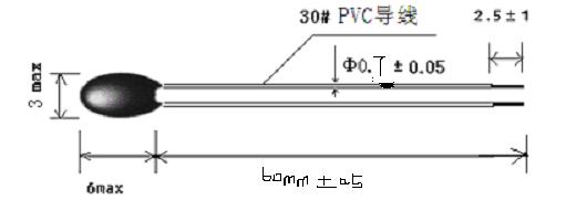 6、NTC焊接条件 焊接时,焊接处距电阻体根部至少6mm,焊接温度应低于350,焊接时间应尽量短。 7、热敏电阻储存条件 7.1储存温度:-10 ~ 40; 7.2储存湿度:≤75% RH; 7.3避免存放在具有腐蚀性气体及光照的环境下; 7.4包装打开后需重新密封保存; 8、NTC热敏电阻阻值与温度R/T表公式计算表